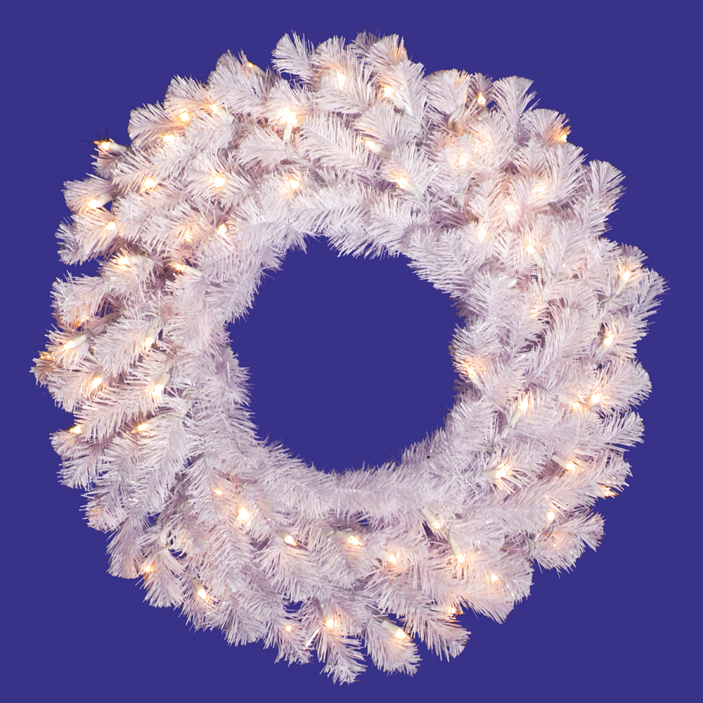 New Crystal Spruce Wreath Clear Lights Product Photo