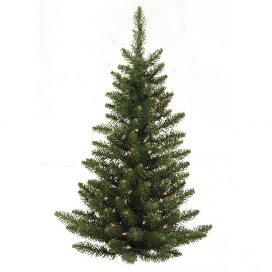 slim logo 3 foot unlit camdon fir flat back wall tree
