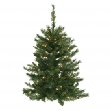 3 foot imperial pine wall tree clear leds