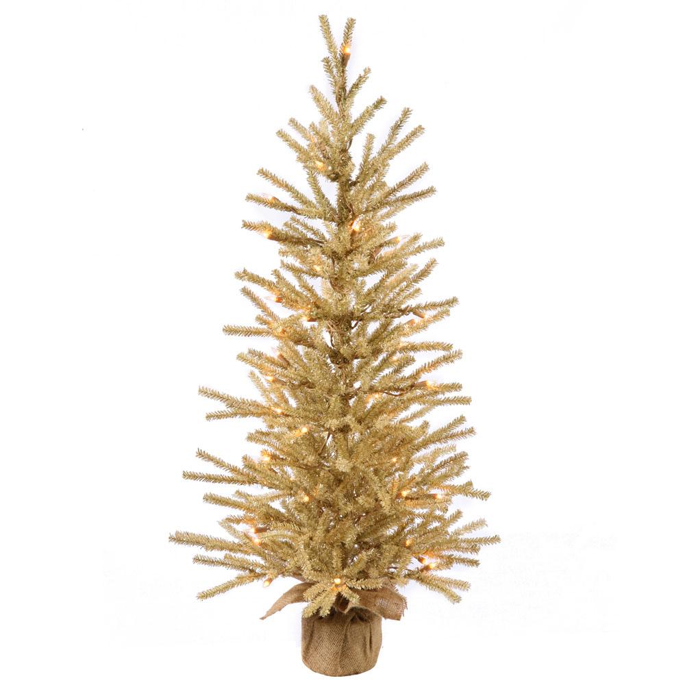 48 inch Champagne Tree: Clear LED Lights B162148LED