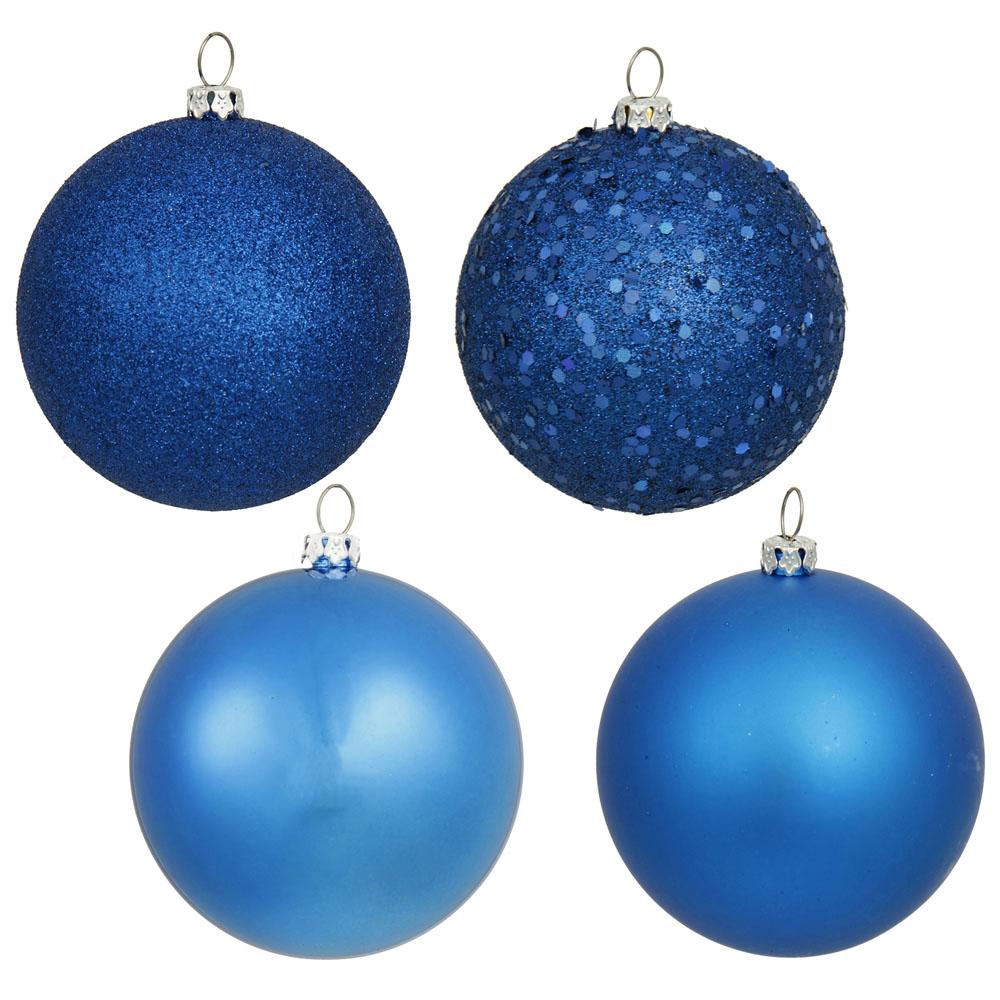 1 Inch 4-finish Christmas Ball Ornament (set Of 18)