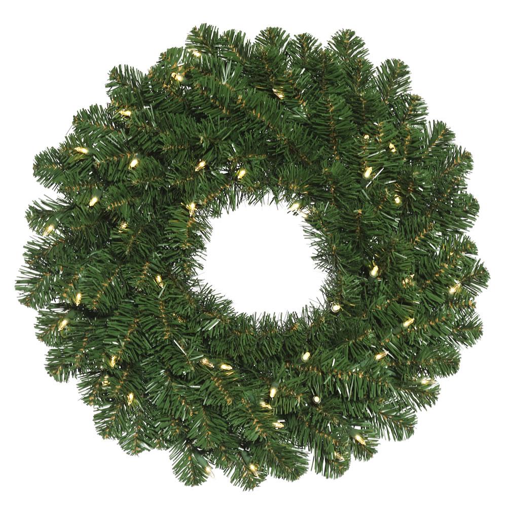 Order Oregon Fir Wreath Clear Leds Product Photo