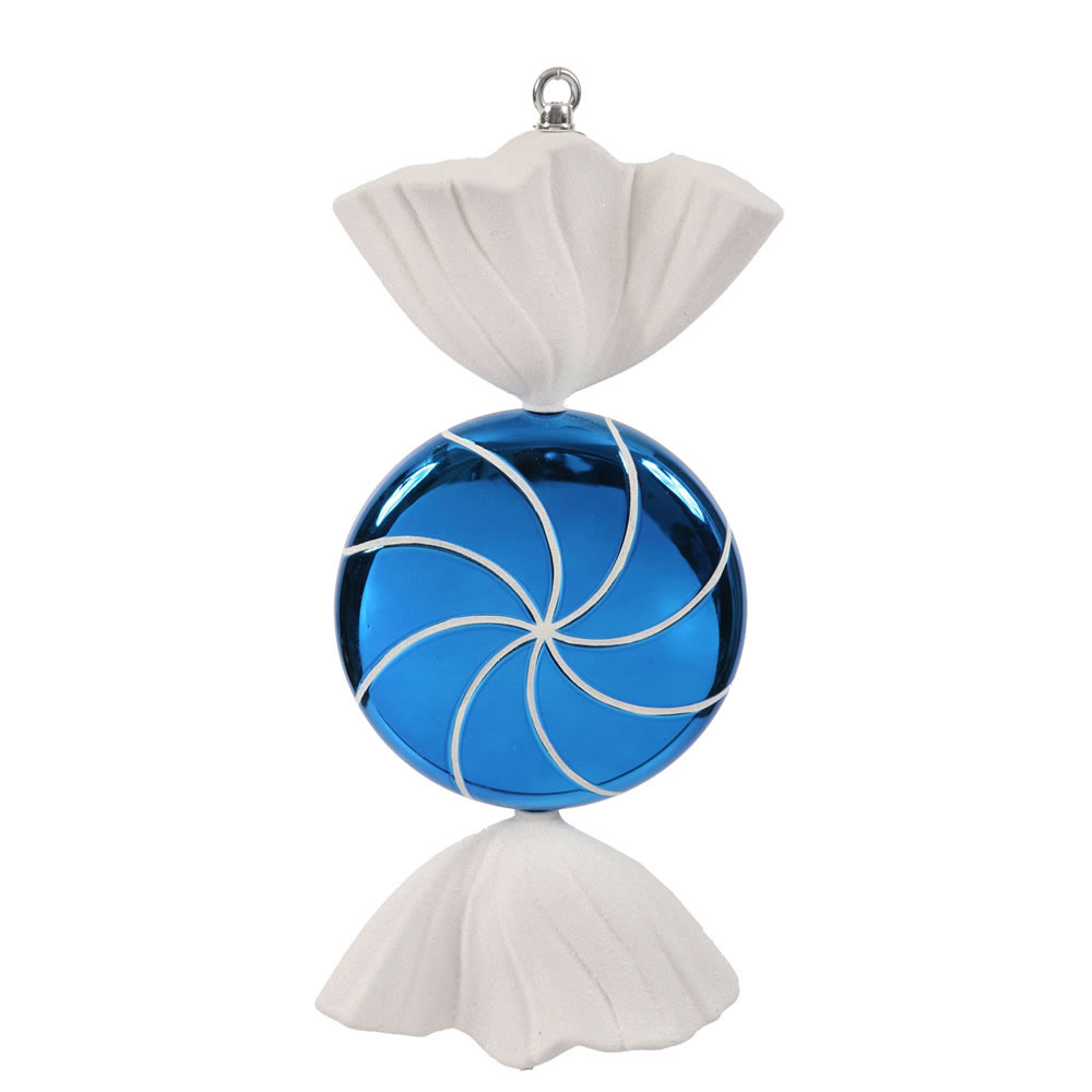 18.5 inch Blue-White Swirl Candy Ornament
