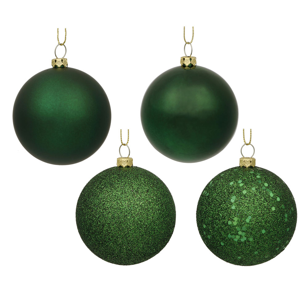 1.6 inch Emerald 4 Assorted Finish Ball Ornaments (Set of 96)