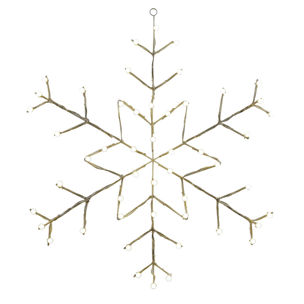 Led Snowflake Wire Silhouette
