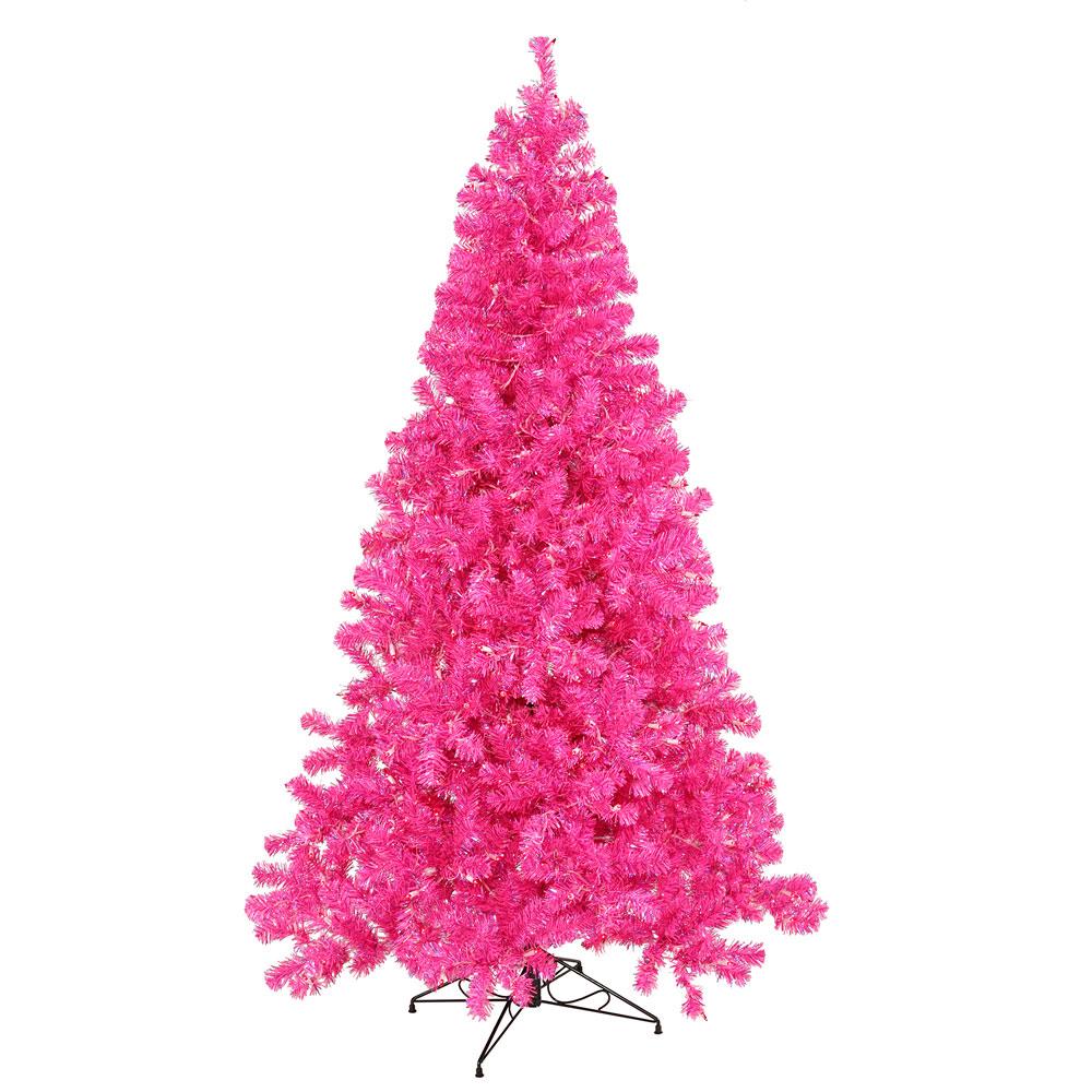 6 Foot Hot Pink Christmas Tree: Pink Lights