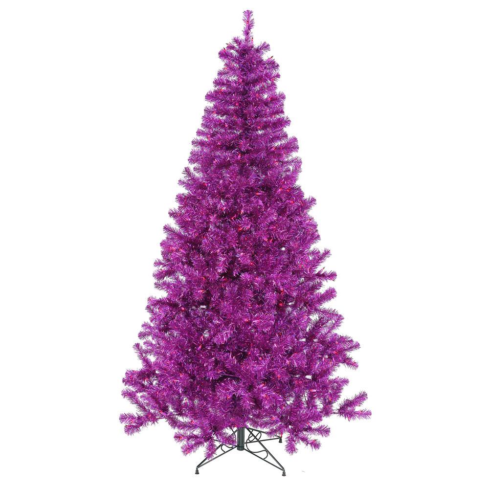 prelit fake christmas trees