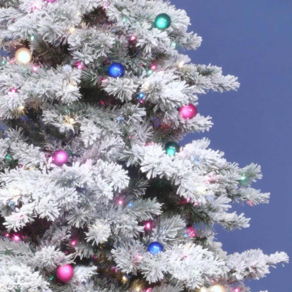 3 foot Flocked Alaskan Christmas Tree: All-Lit Lights ...