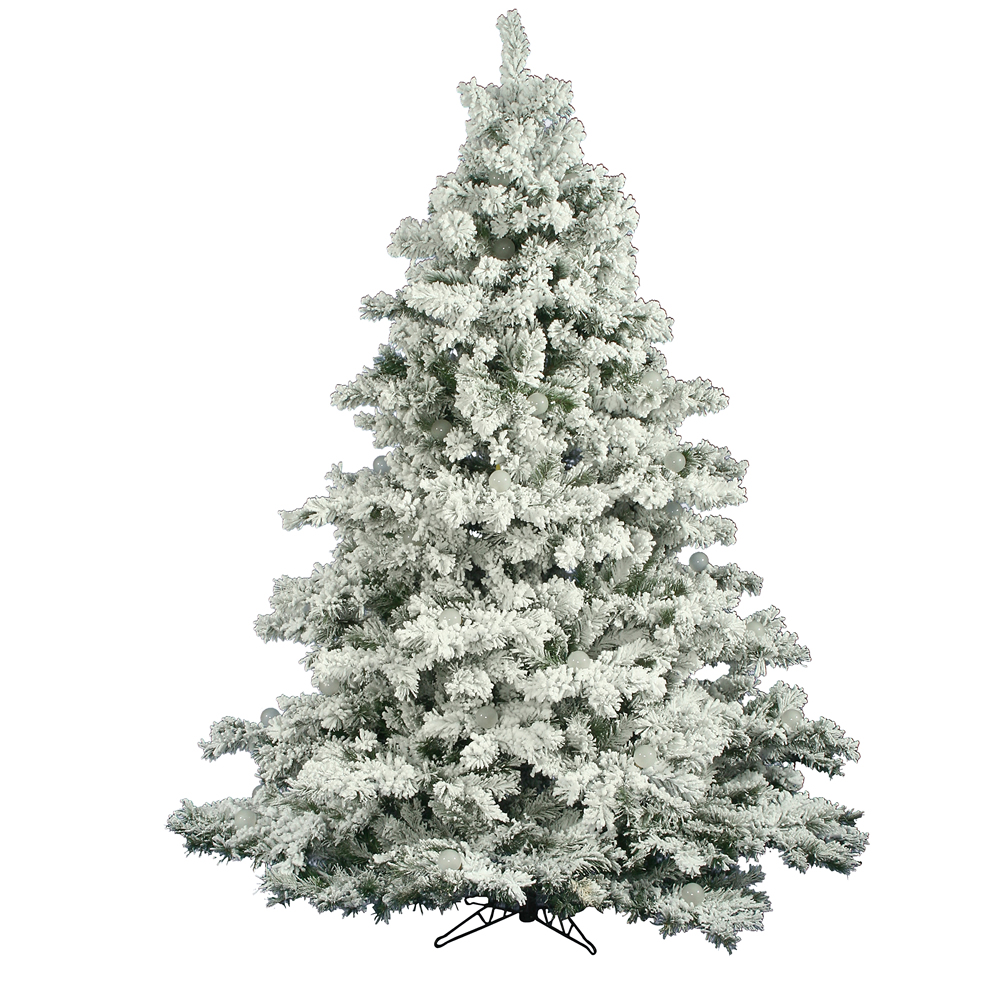 foot flocked alaskan christmas tree unlit a806375 vickerman. Black Bedroom Furniture Sets. Home Design Ideas