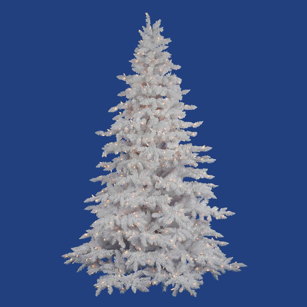 Flocked Spruce Christmas Tree