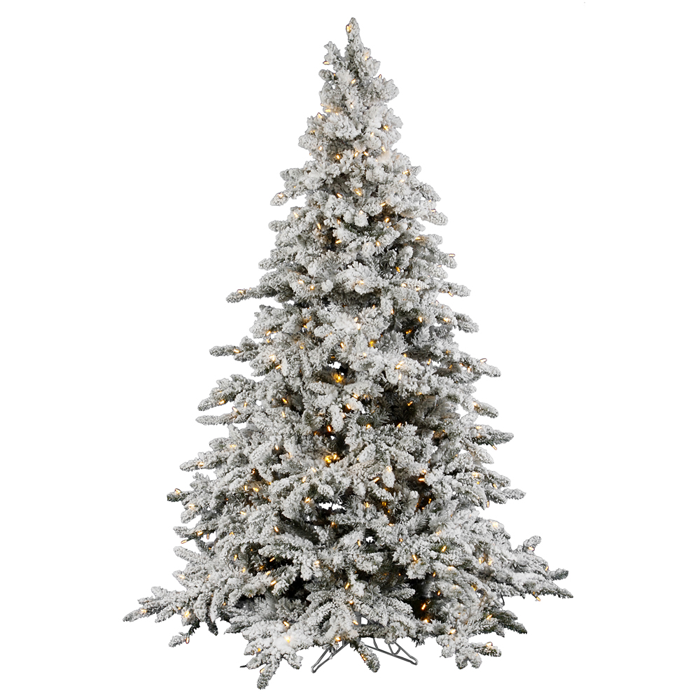 foot flocked utica fir christmas tree warm white italian led lights. Black Bedroom Furniture Sets. Home Design Ideas