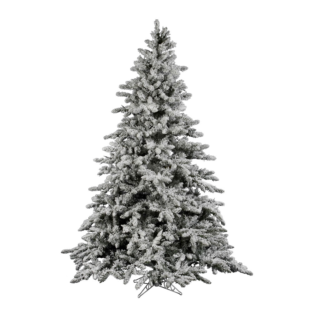 12 Ft Flocked Christmas Tree: 12 Foot Flocked Utica Fir Christmas Tree: Unlit