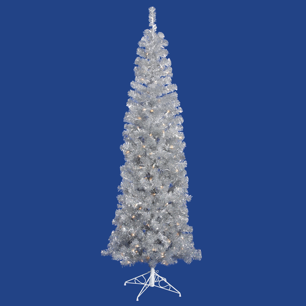 10 foot silver pencil christmas tree mini lights