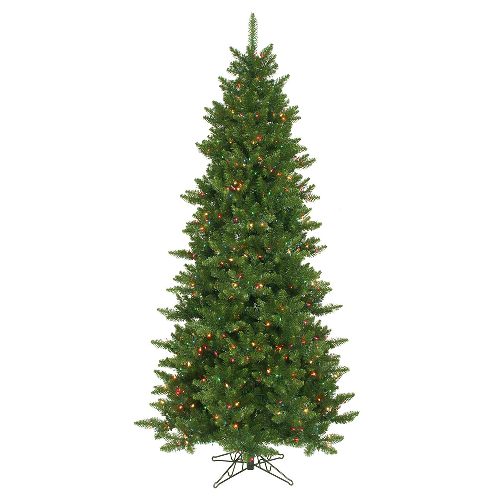 12 Foot Slim Camdon Fir Christmas Tree Multi Colored