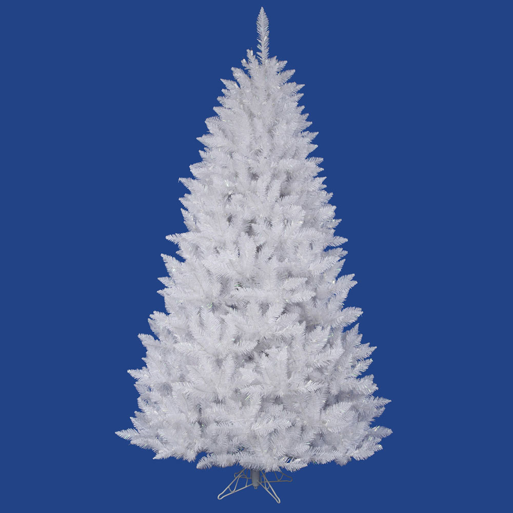 White Christmas Tre: 3.5 Foot Sparkle White Spruce Christmas Tree: Unlit
