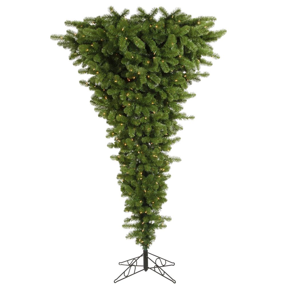 7 5 Foot Green Upside Down Christmas Tree All Lit Lights