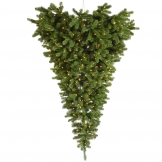 6 foot american upside down wall christmas tree clear leds