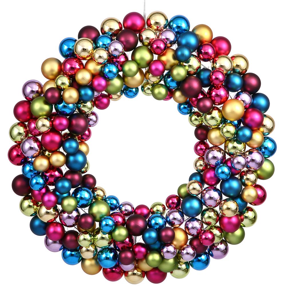 36 inch Ornament Ball Wreath   VCK3344
