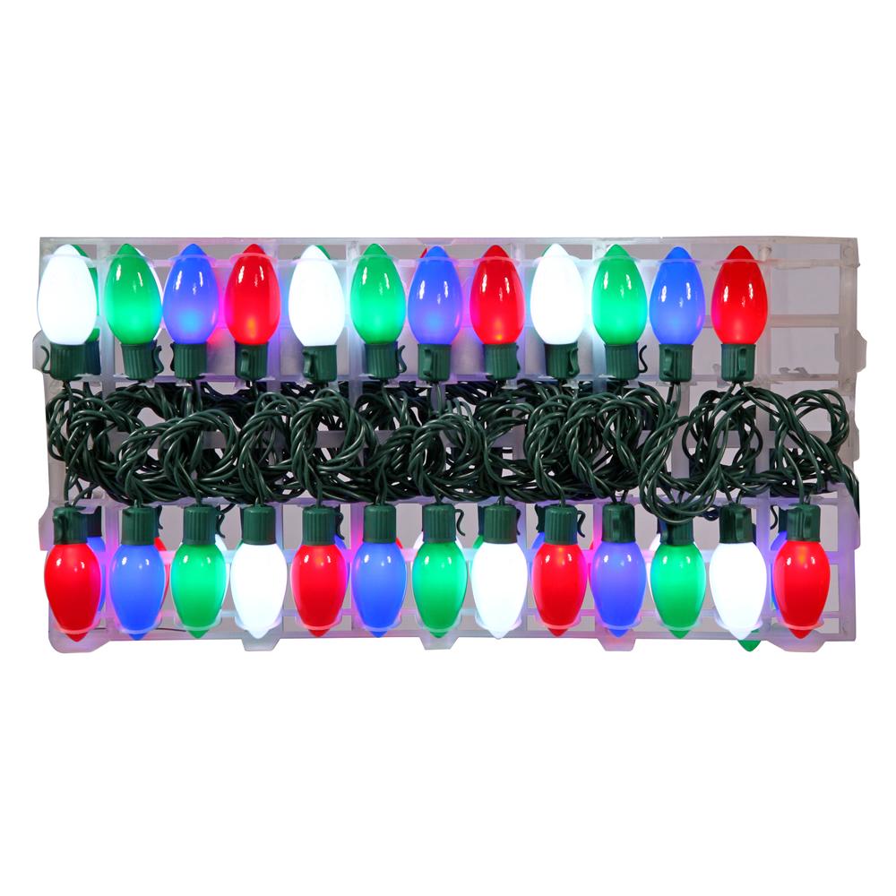 24 foot c9 led multicolor strand with 48 lights x110526. Black Bedroom Furniture Sets. Home Design Ideas