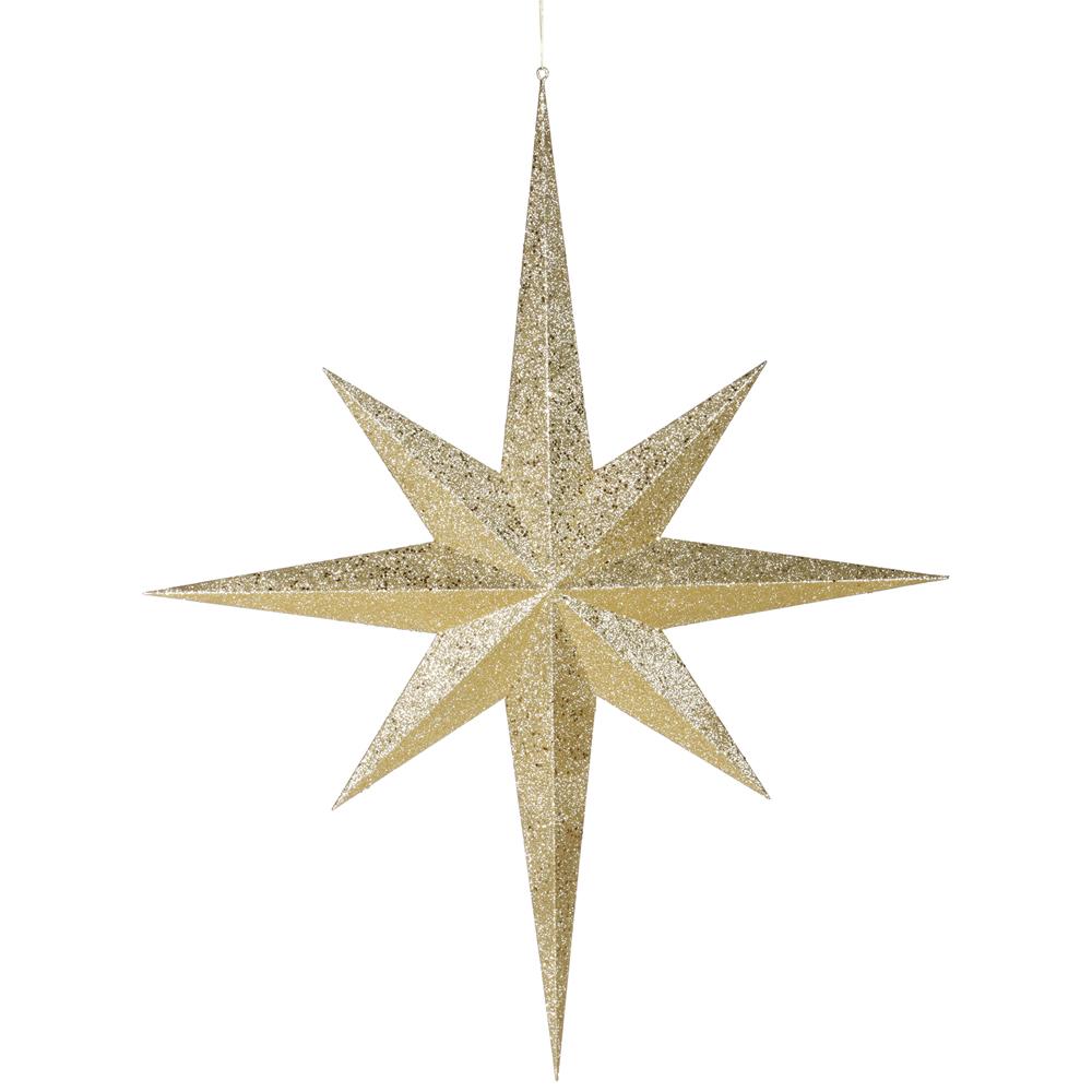 39 inch Glitter 8 Point Star Ornament | M116808