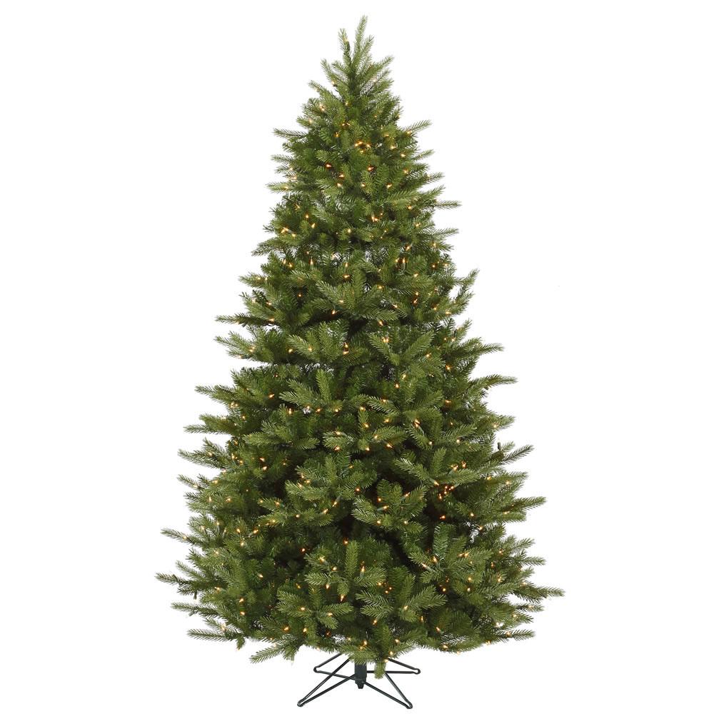 Christmas Tree 7 Foot: 7 Foot Majestic Frasier Fir Christmas Tree: All-Lit Lights