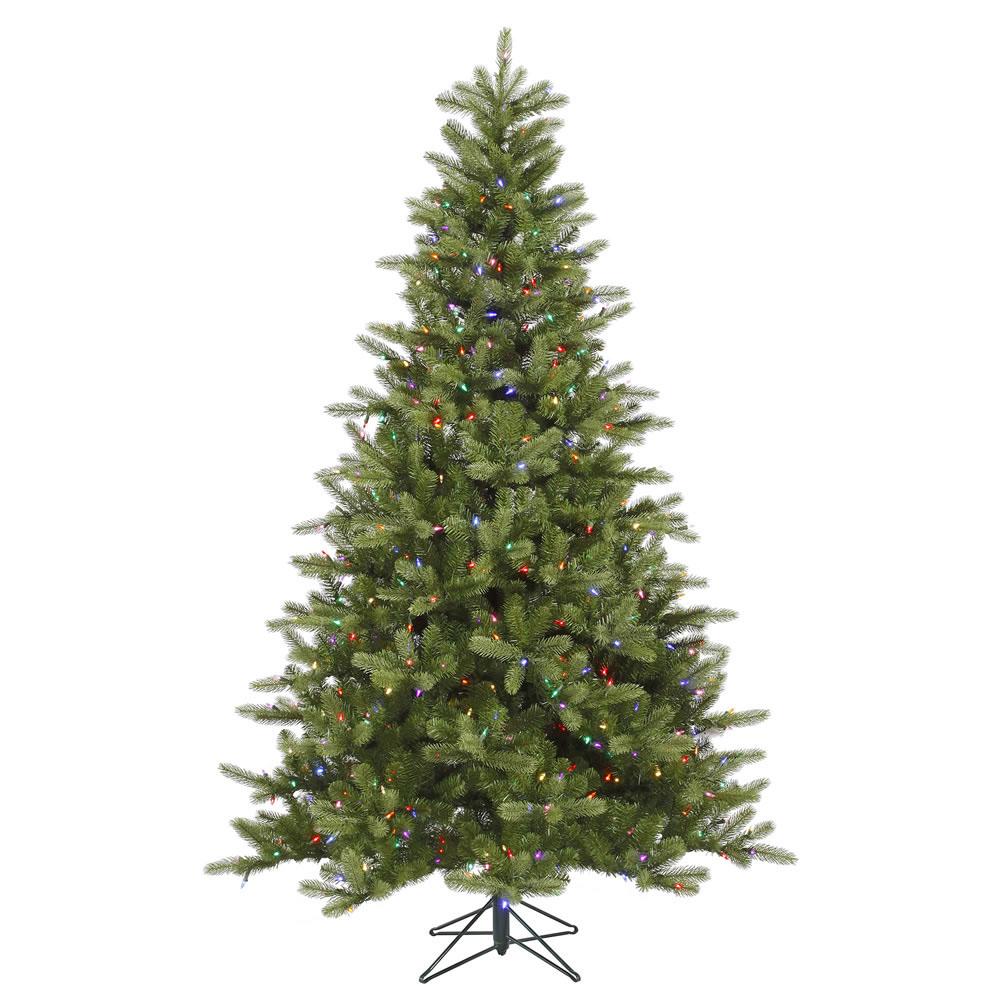 5 5 Foot Pe Pvc King Spruce Christmas Tree Multi Colored Multi Color Tree