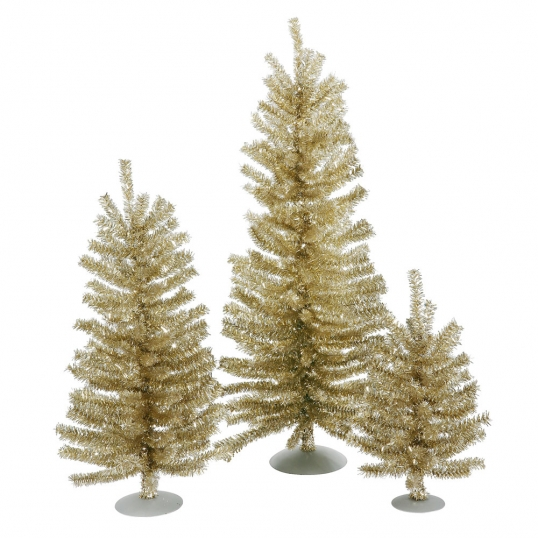 slim logo 12 inch18 inch24 inch champagne mini christmas tree set