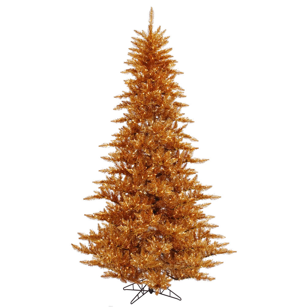 Buy Copper Fir Tree Clear Pre Lit Lights Product Photo