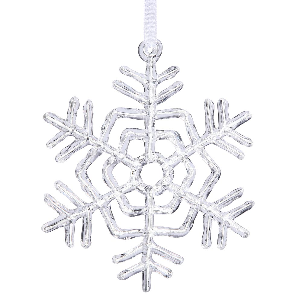 Artificial Clear Acrylic Christmas Snowflake Ornament ...