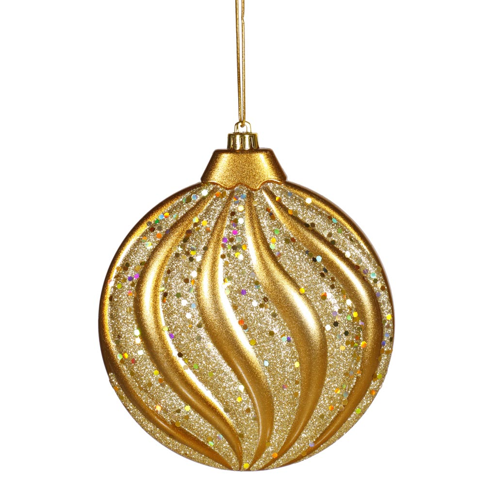 Inch matte glitter flat christmas ball ornament antique