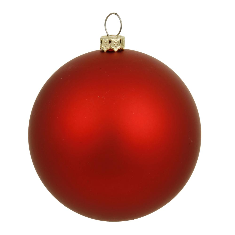 6 inch matte finished uv shatterproof christmas ball red for Outdoor merry christmas ornaments