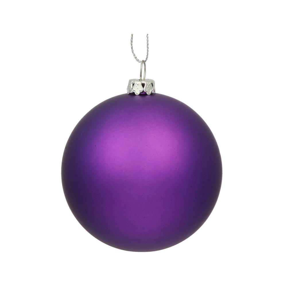 Inch matte finished uv shatterproof christmas ball