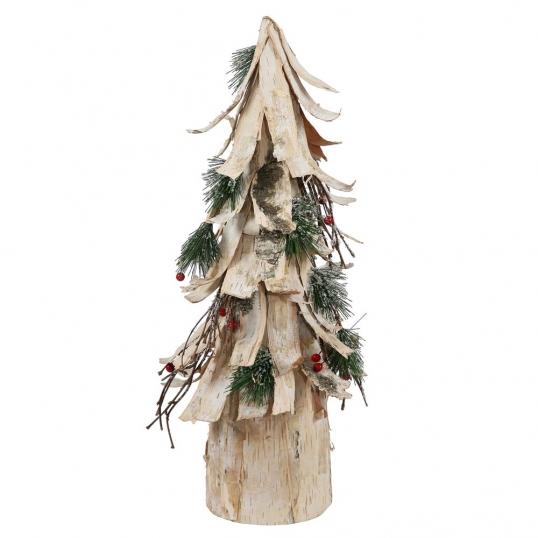 slim logo birch bark berry pine artificial cone christmas tree