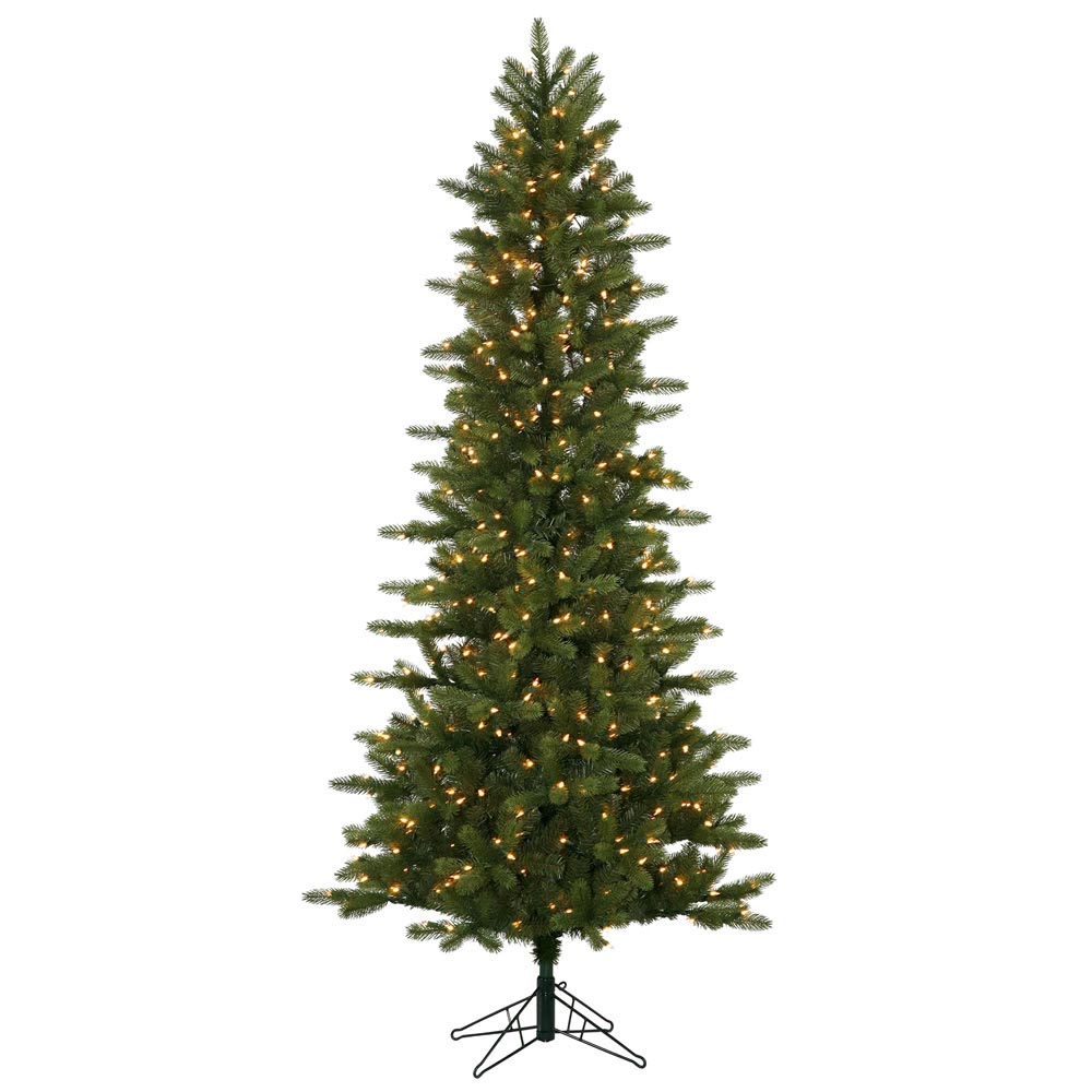 7.5 foot Kennedy Fir Slim Christmas Tree: All-Lit Lights