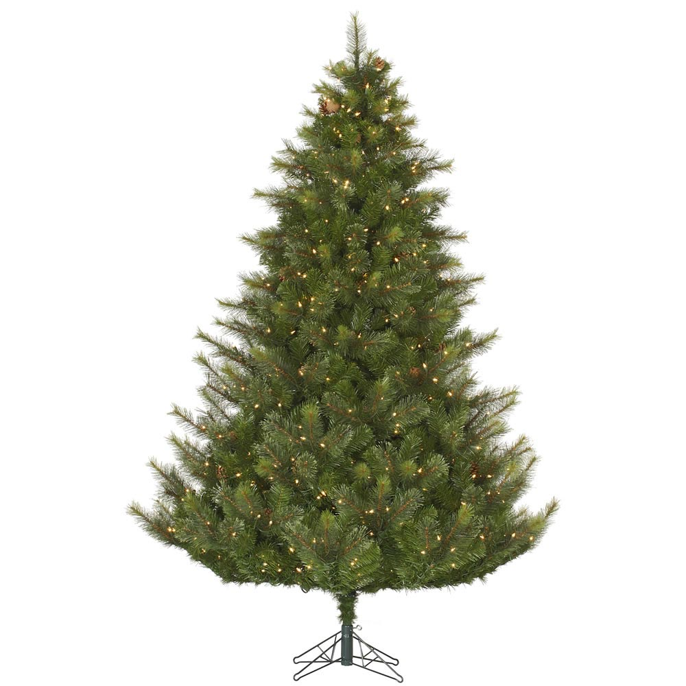 4.5 foot Modesto Mixed Pine Christmas Tree: All-Lit Lights