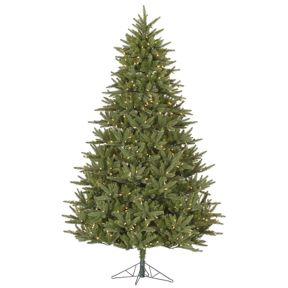 6.5 foot Modesto Mixed Pine Christmas Tree: All-Lit Lights