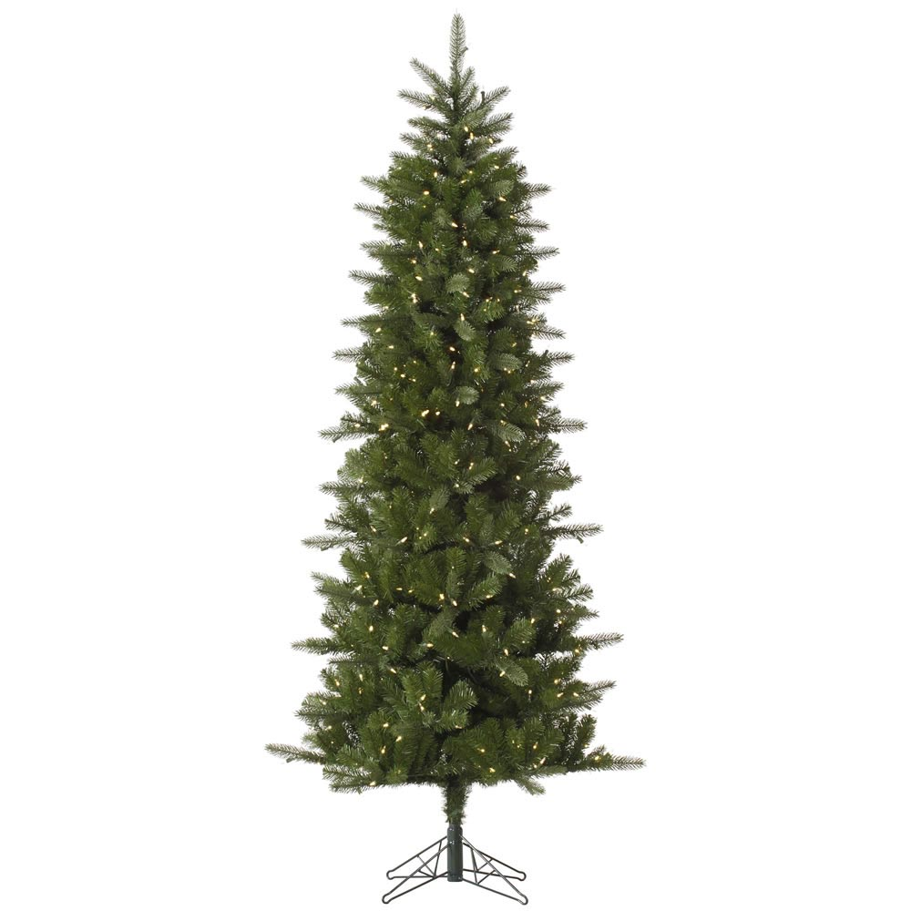 4.5 foot Carolina Pencil Spruce Christmas Tree: Italian LED Lights