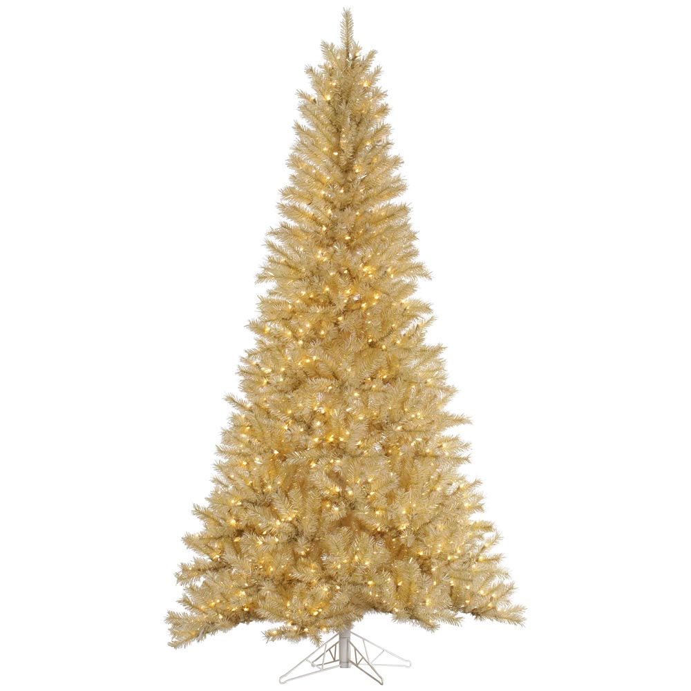 White gold tinsel christmas tree vck4554 for White christmas tree gold
