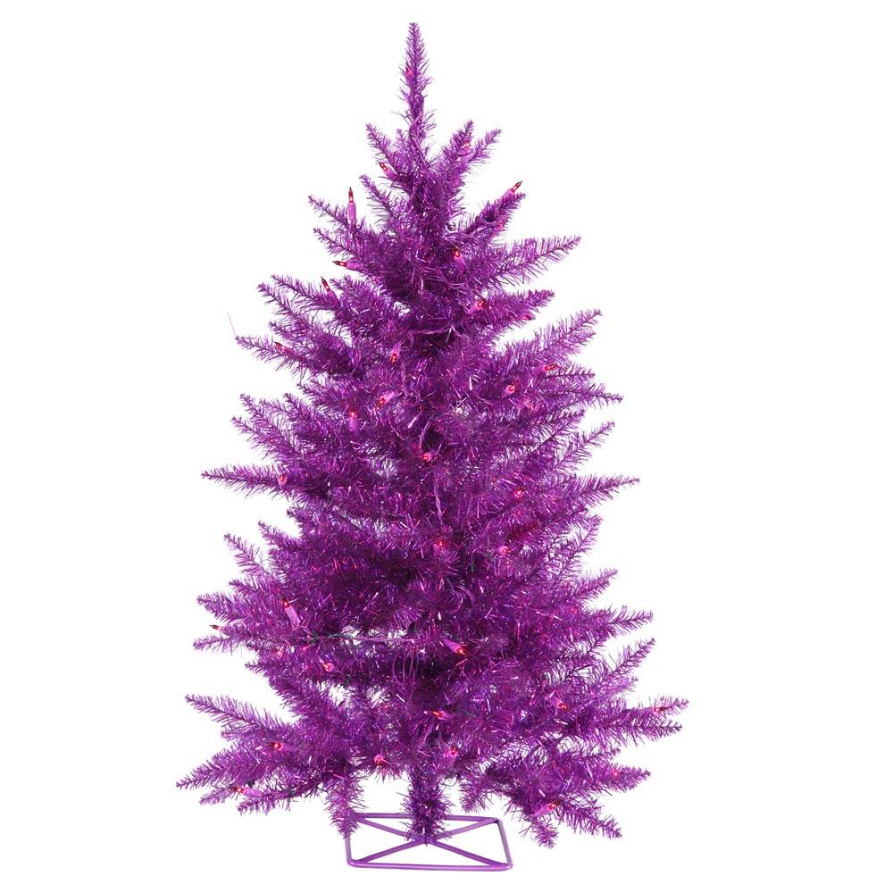 foot purple christmas tree mini lights b886531