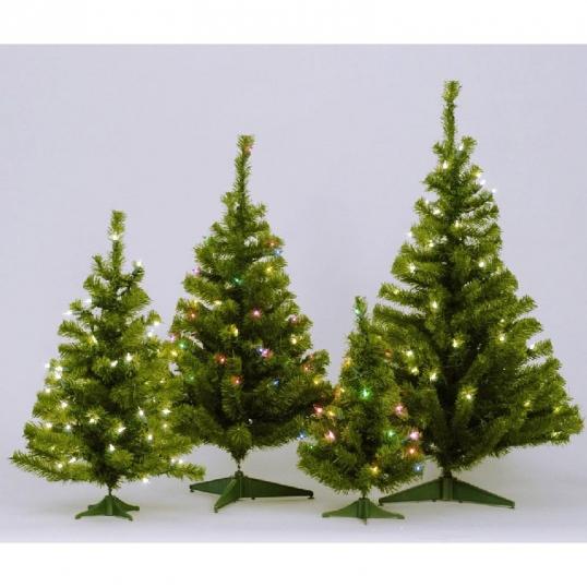 slim logo 3 foot canadian pine christmas tree mini lights