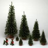 12 inch mini pine christmas tree unlit set of 5