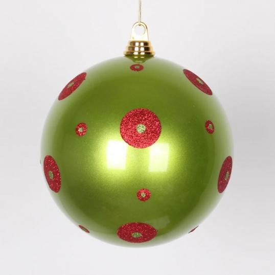 Slim Logo; 8 inch Candy Apple Lime Green Christmas Ball Ornament - 8 Inch Candy Apple Lime Green Christmas Ball Ornament M144374