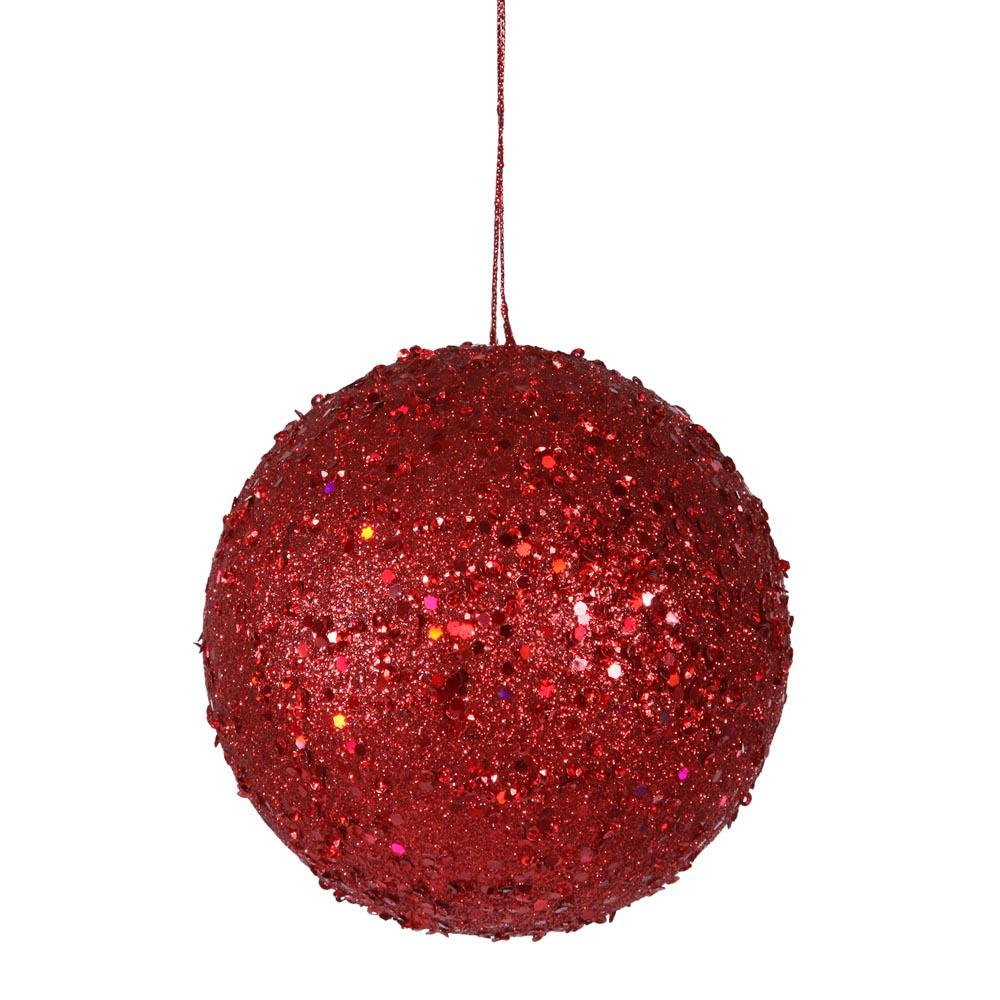 Inch jewel christmas ball ornament w string vck4772 - String ornaments christmas ...