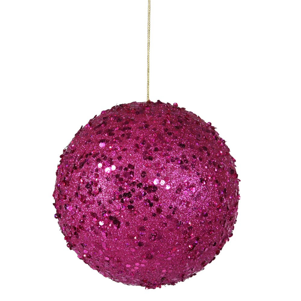 Inch magenta jewel christmas ball ornament w string p797310 - String ornaments christmas ...