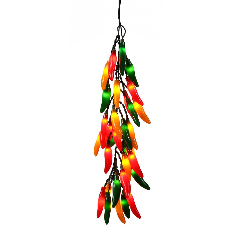 18 Inch Chili Christmas Pepper Bunch 30 Inch Lead Cord