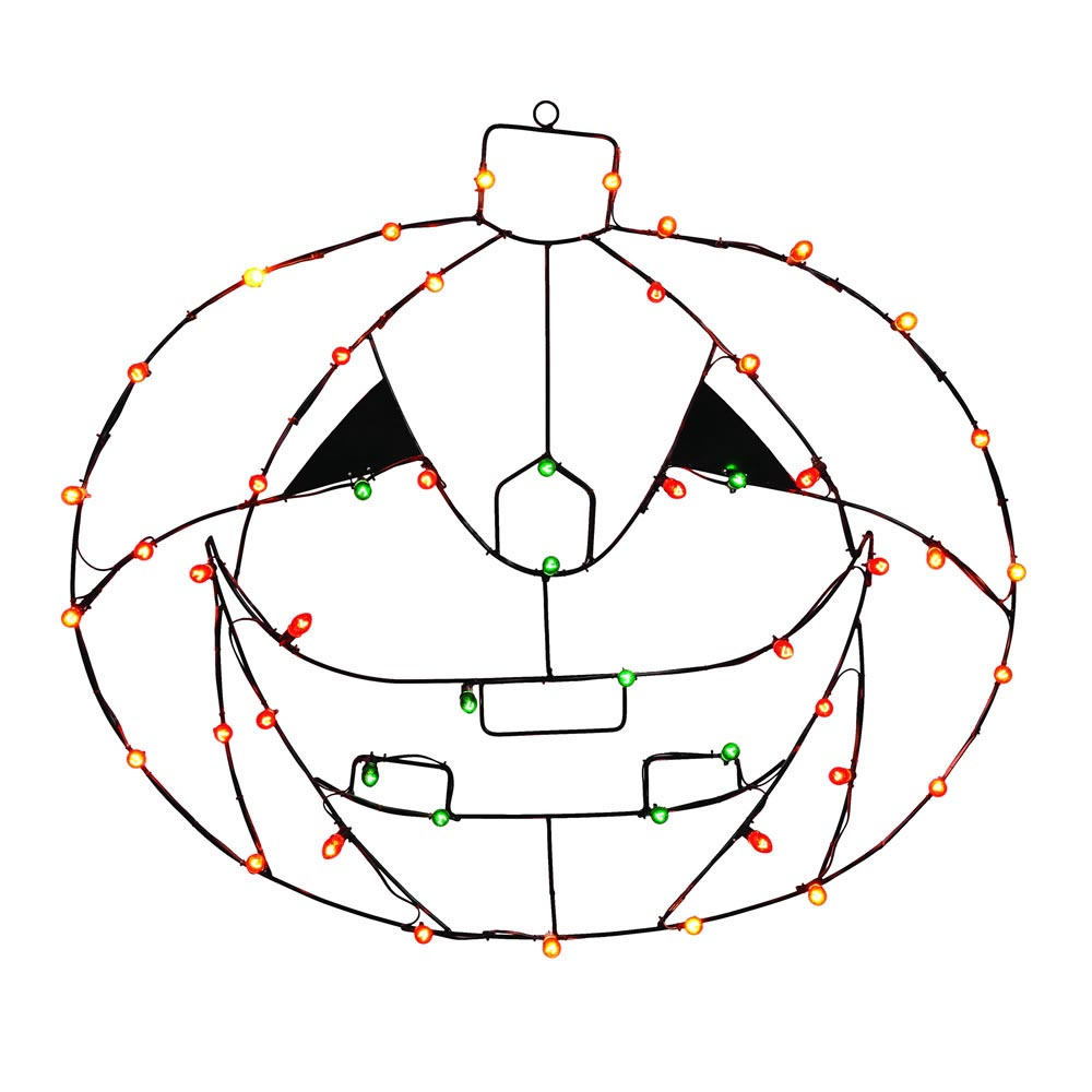 48 x 34 inch pumpkin wire silhouette  c7 lights
