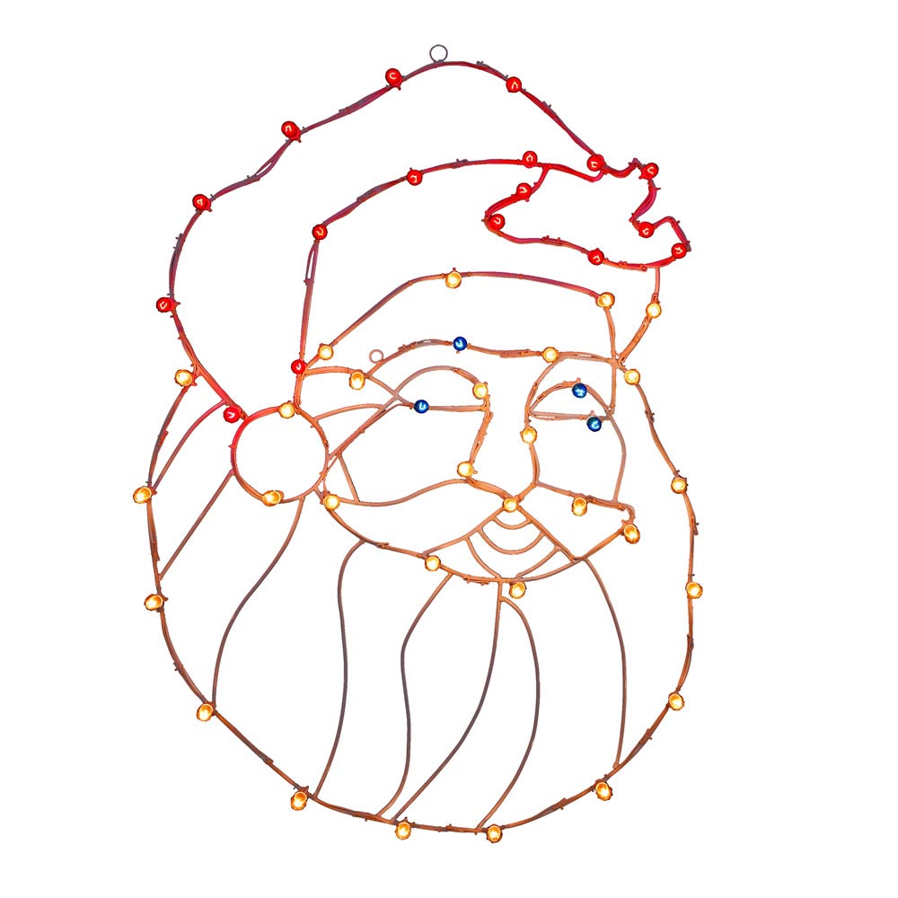Best-selling Santa Head Wire Silhouette Lights Product Photo
