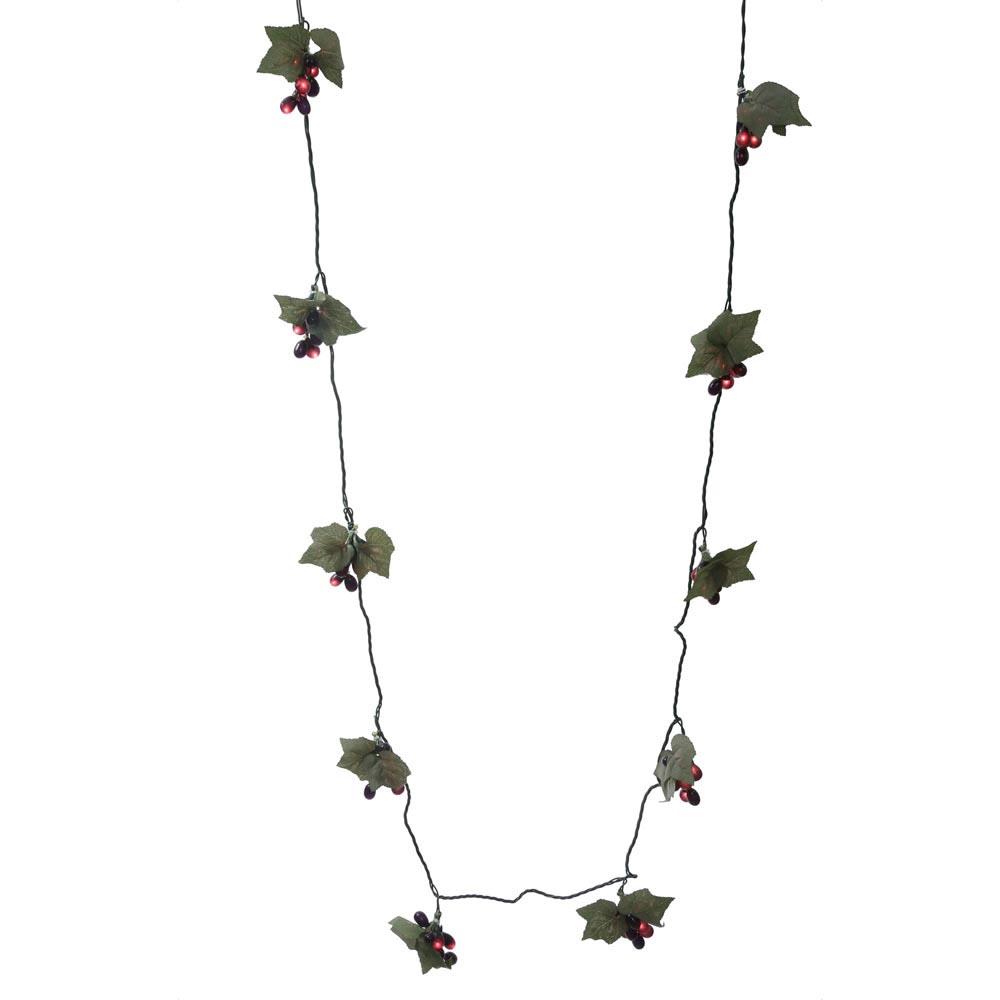 How To String Lights On A Ficus Tree : 13 foot 50 Light Purple Grape Cluster Christmas Lights: Mini Lights W133406