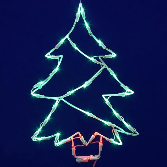 slim logo 18 x 12 inch led light christmas tree