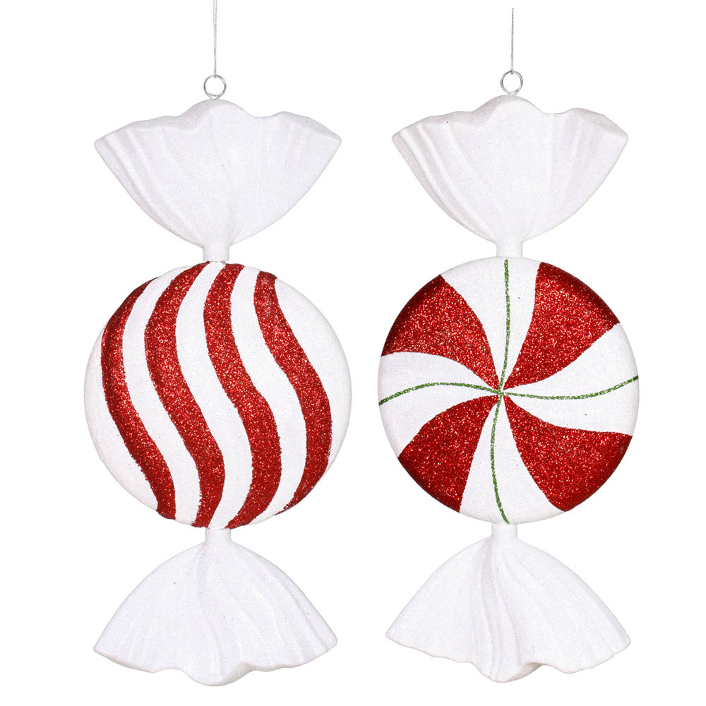 Melted Peppermint Candy Ornaments: Peppermint Candy Ornament (Set Of 2)